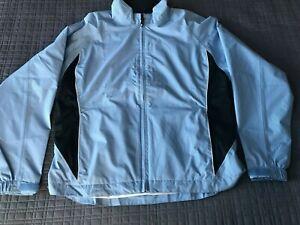FOOTJOY DRYJOY FJ Women Blue Full Zip Golf Jacket Windbreaker Size Large