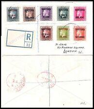 RAROTONGA 1920 KGV REGISTERED COVER TO LONDON (F-VF)