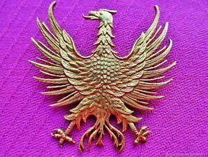 Broche ancienne en bronze d'Aigle avec dorure XIXe siècle France.Antique brooch