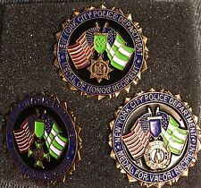 NYPD Medal of Honor Flag, Pin Set, Combat Cross Medal for Valor
