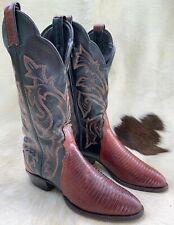 Women's Brown Genuine Lizard Leather Western Cowboy Boots 6 M