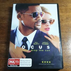 Focus DVD R4 Like New! FREE POST Will Smith