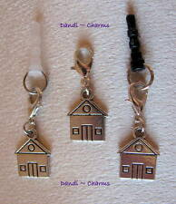 Cute HOUSE ~ Clip On or Plug In Charm - Dust Cap for Mobiles, iPods, Bracelets