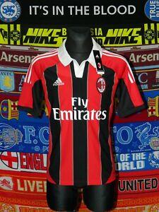 BNWT AC Milan adults M 2012 home original football shirt jersey trikot soccer