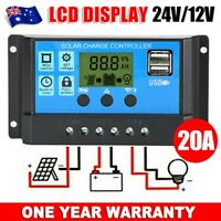 20A 12V/24V LCD Display PWM Solar Panel Regulator Charge Controller AU Stock