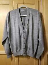 Edwards Garment Men's Preppy Long Sleeve V Neck Button Down Cardigan, Size Med