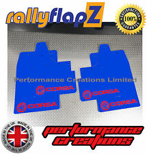 rallyflapz passend für Opel Corsa C (00-07) Schmutzfänger blau Logo rot 4mm PVC