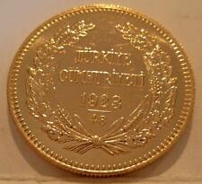 Turkey 1972 (1923/48) Gold 500 Kurush Unc Low Mintage - 6,060 Coins Issued
