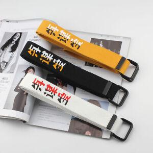 Men Women Waist Belt Waistband Casual Webbing Nylon Canvas Waistbelt Strap Belts