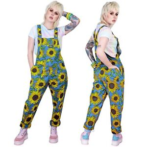 Run & Fly Stretch Twill Cotton Sunflower Dungarees