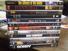 (12) Anthony Hopkins DVD Lot: (3) Hannibal Lecter  Dracula  Beowulf  The Wolfman