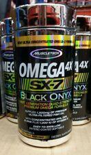Muscletech Omega 4X SX-7 Black Onyx 100 Softgels - FIsh Oil - Free Shipping