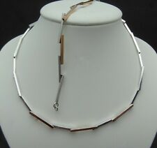 NEW SILVER COLLAR AND BRACELET SET IN BOX (GM39)