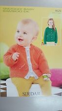 Sirdar Knitting Pattern #4626 Baby & Child's Cardigan in Snuggly Baby Bamboo DK