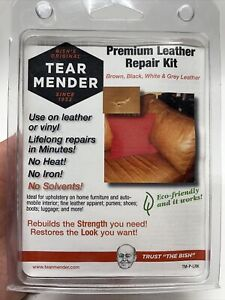 Tear Mender Premium Leather Repair Kit for Brown Black White & Gray Leather A