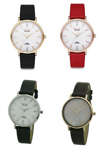 Omax Women's Studded Face Leather Strap Analog Wrist Watch, Japanese Quartz