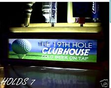 (REMOTE CONTROL) LED 7 BEER TAP HANDLE DISPLAY 19th Hole GOLF clubhouse
