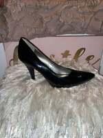 Worthington Black High Heels Shoes Leather Pumps Womens Size 9