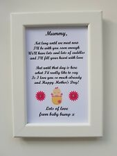 Mothers Day Photo Frame Print Gift Personalised Mummy from Baby Bump 1st Mum Nan
