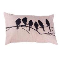 Vintage Cotton Linen Retro Pillow Case Cushion Cover Home Sofa Bed Decor Square