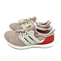 Adidas UltraBoost Size 11 Womens Chalk White/Active Red DB3209