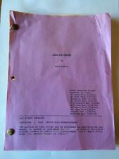 LATE FOR DINNER, CULT FILM, 1990 actors final shooting script (10 revisions)