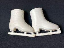 """Sindy Skating Gir 1963 white ice skates shoes boots Pedigree 12S05 fit 12"""" doll"""