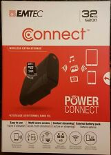 EMTEC Connect 32GB Wireless Storage Device - WiFi/Ethernet