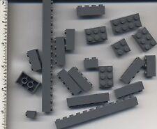 LEGO x 20 Dark Bluish Gray Brick Pieces