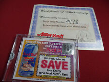 TOPPS 1/1 RED BULL Factory Vault  2013 Wacky Packages STICKER PROOF PLATE COA