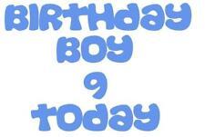 BIRTHDAY BOY/GIRL A5 TSHIRT TRANSFER BIRTHDAY AGE TODAY