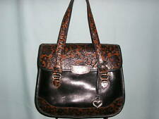 Brighton ~ MARSELLA FIORI ~ Embossed LEATHER SATCHEL~