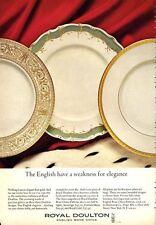 1966 Royal Doulton Eng. Bone China Sovereign-Royal Gold-Fontainebleau PRINT AD