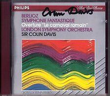 Sir Colin Davis signé Berlioz Symphonie fantastique le carnaval romain CD LSO