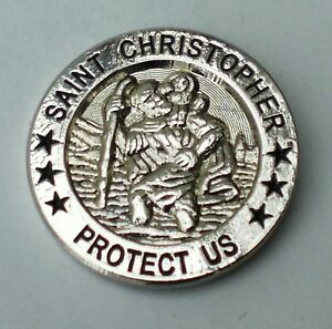 St Christopher Lucky Travel Lapel Pin Badge
