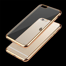 Silicone Clear Hard Bumper Case Cover For apple iphone 7 7 plus 6 6S Plus 5 SE