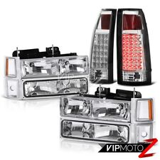 94-98 Chevy C10 C/K Suburban 1500 2500 Chrome LED Tail Light Headlights Headlamp