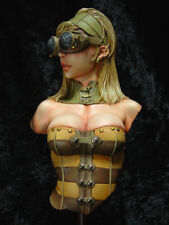 1/8 Sexy Hot Lady Female Soldier Model Bust Figure Unpainted Resin Kit 210mm