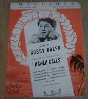 Bobby Breen Lot of Two Vintage Movie Sheet Music Let's Sing Again and Macushla