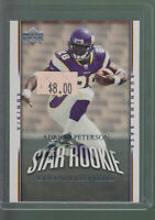 2007 UPPER DECK ROOKIE EXCLUSIVES #279 ADRIAN PETERSON RC OU VIKINGS ROOKIE CARD