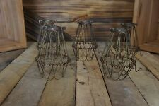 Qty-5  Edison light Vintage Aged Bulb Cages, Pendant Cages,,Steampunk wire cages