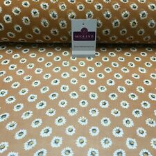 Tan Floral Printed Crepe chiffon Dress Fabric 150 cm Wide Mk1190-10 Mtex