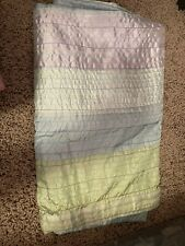 Light Blue Purple Green Shower Curtain Great Condition Smoke Free Home 72 X 72