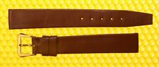 16mm Vintage OMEGA Flat Leather Watch Strap Band BROWN Swiss Made <NWoT>