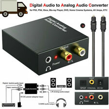 Optical Coaxial Toslink Digital to Analog Audio Converter Adapter RCA 3.5mm UK