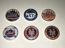 """1"""" Set Of 6 Ny New York Mets Lapel Badge Button Pins Pinback [P171]"""
