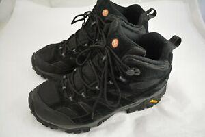 Mens MERRELL Black Hiking Boots Size 9.5 US 43.5 EU