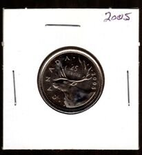 CANADA 2005P NICKEL QUARTER, CARIBOU DESIGN UNC COND. FROM THE ROLL