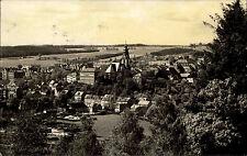 Adorf im Vogtland DDR s/w Postkarte 1967 Gesamtansicht mit Stadtkirche Sachsen