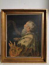 4213D/T91-Öldruck auf Holz-Kopie-Peter Paul Rubens-König David mit Harfe